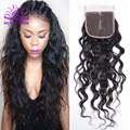 Brazilian Water Wave Closure 1pcs Lot Free Part Unprocessed Brazilian Human Hair Closure 1B Brazilian Virgin Water Wave Hair
