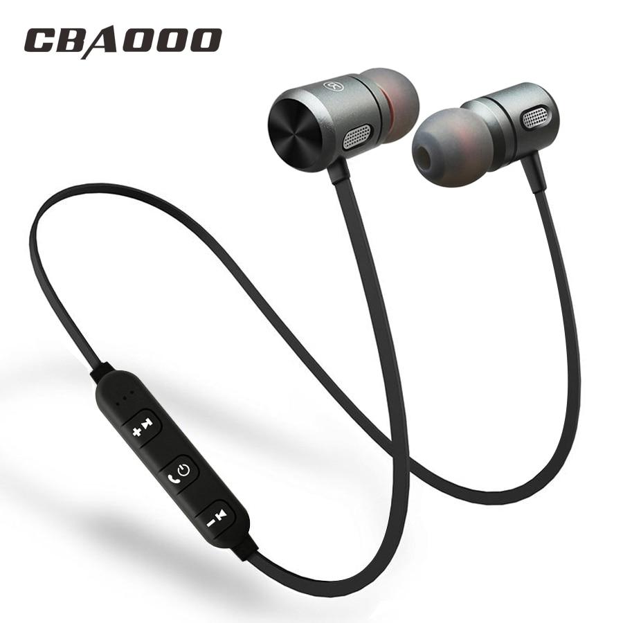 CBAOOO C10 Bluetooth Earphone wireless Headphones Bluetooth sports Running Metal Magnet Headsets siroflo x18 magnet metal sports bluetooth earphone