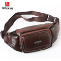 Brand Logo ! New Casual Retro Genuine Leather Waist Pack For Men And Women Chest Pack Cowhide Travel Money Phone Mobile Belt Bag
