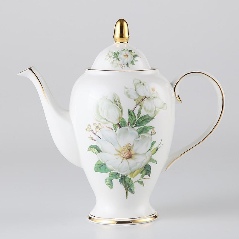 Europa Camellia Bone China Kavos rinkinys Britų porceliano arbatos - Virtuvė, valgomasis ir baras - Nuotrauka 3