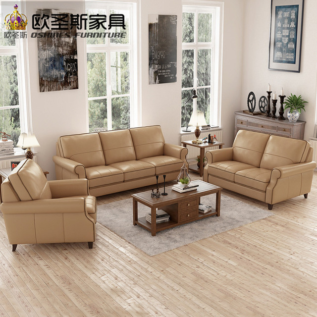 Light Coffee American Style 6 Seats Chesterfield Sofa Replica Antique  Office Leather Sofa Set Designs Of