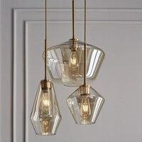 LukLoy Post Modern Oturma Odası Cafe LED kolye Işık Çay Yemek Odası Başucu Cam Kolye lamba çubuğu Salonu Cam Asılı Aydınlatma|Kolye ışıkları|   -