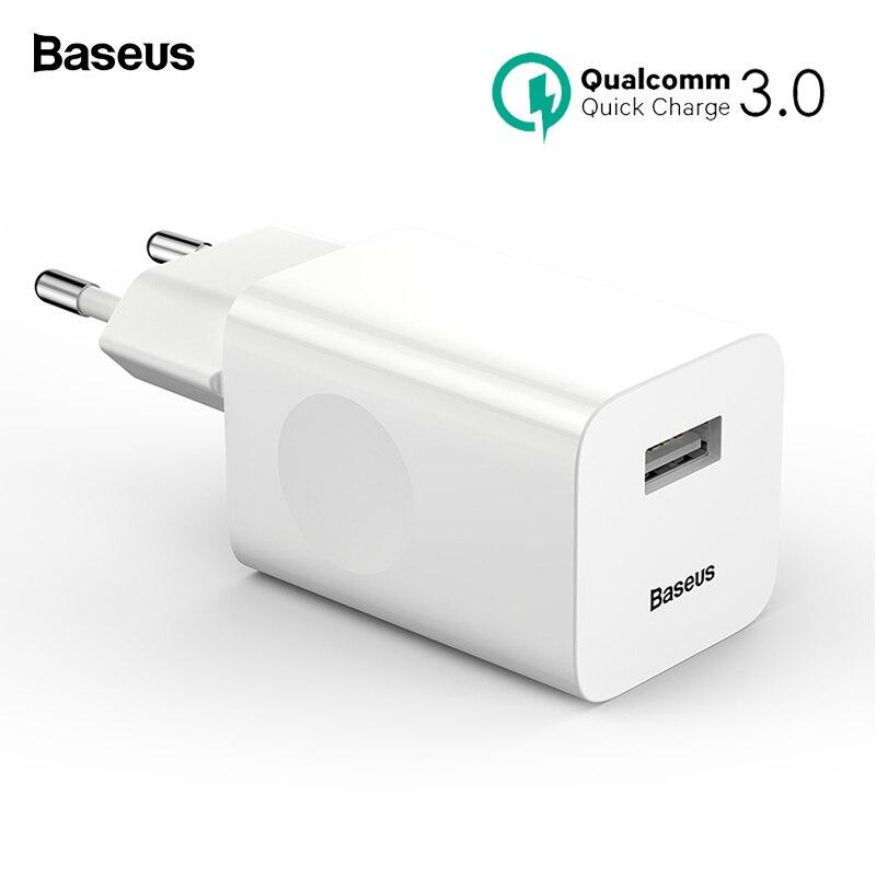 Baseus 24 W Quick Charge 3,0 USB Ladegerät QC3.0 Wand Handy Ladegerät für iPhone X Xiao mi mi 9 tablet iPad EU QC Schnelle Lade