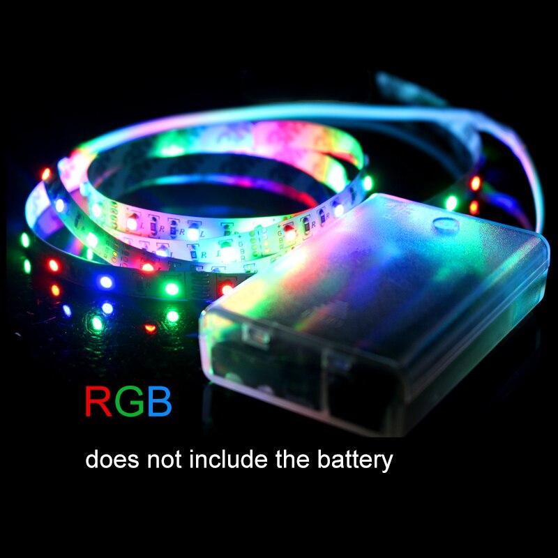 high brightness battery flexible led strip 3528 60leds 5v portable tape tv background christmas decorative