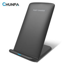 Qi Wireless Charger for Samsung Galaxy S8 S8 Plus S7 S6 Edge Note 5 New Qi Charger Wireless Charging Adapter Quick Charge 2.0