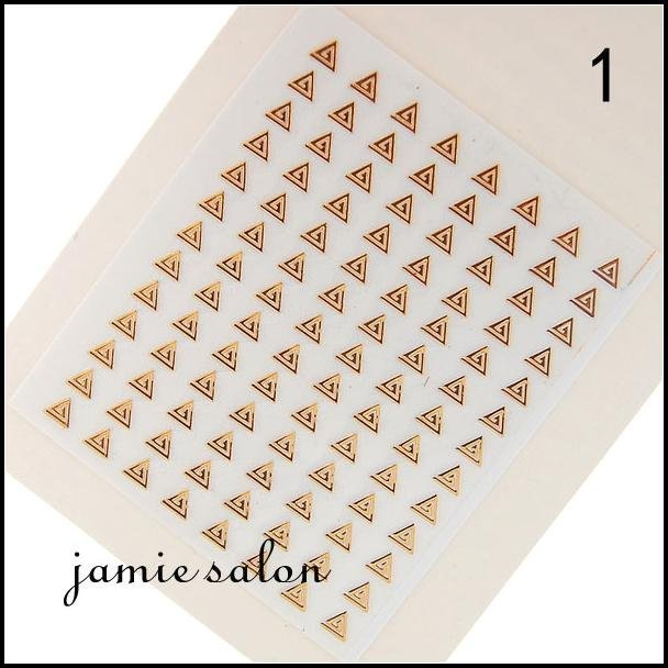 Wholesale Gold metalic design nail art sticker / decal DHL Free shipping