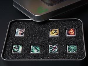 Image 3 - Tampas de chave de teclado mecânico, 7 teclas/conjunto, altura, oem, teclas de habilidade para lol