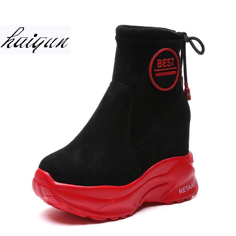 En D'hiver Sneakers 03 Plate Peluche Coins 01 Chaud Bottes Chaussures 02 Cheville forme 2018 Accrue Automne Femmes Femme Cm 04 11 Hauteur waP8S