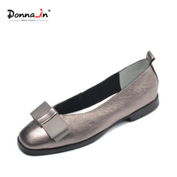 Donna In Brand Ballerina Woman Genuine Leather Flat Shoes Slip On Low Heels Casual Female Shoe