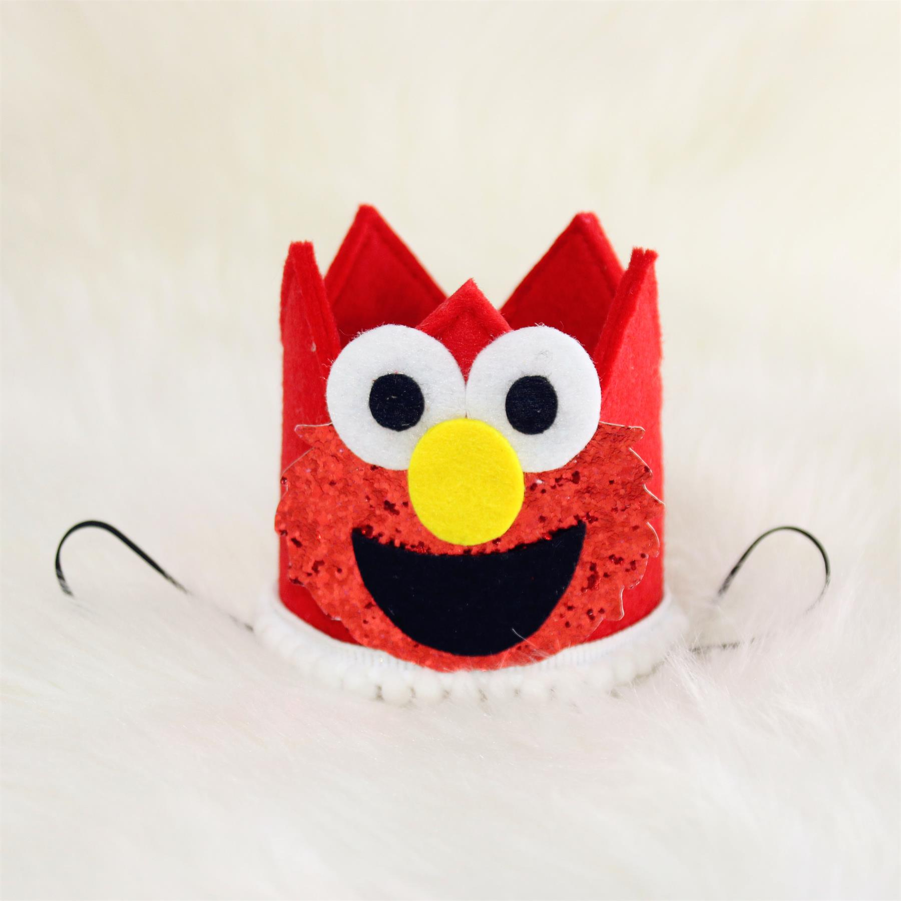 hot pink lavender and red elmo birthday crown Custom elmo birthday crown headband