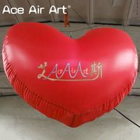 Giant Inflatable Balloon Red Heart for Valentines Decorations
