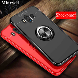Car Stand Case For Huawei P10 P9 P20 Lite 2017 Pro mate 9 10 Y7 Pro Y9 2018 Nova 2S Honor 8 Pro 9 10 Lite Note 10 TPU Back Cove