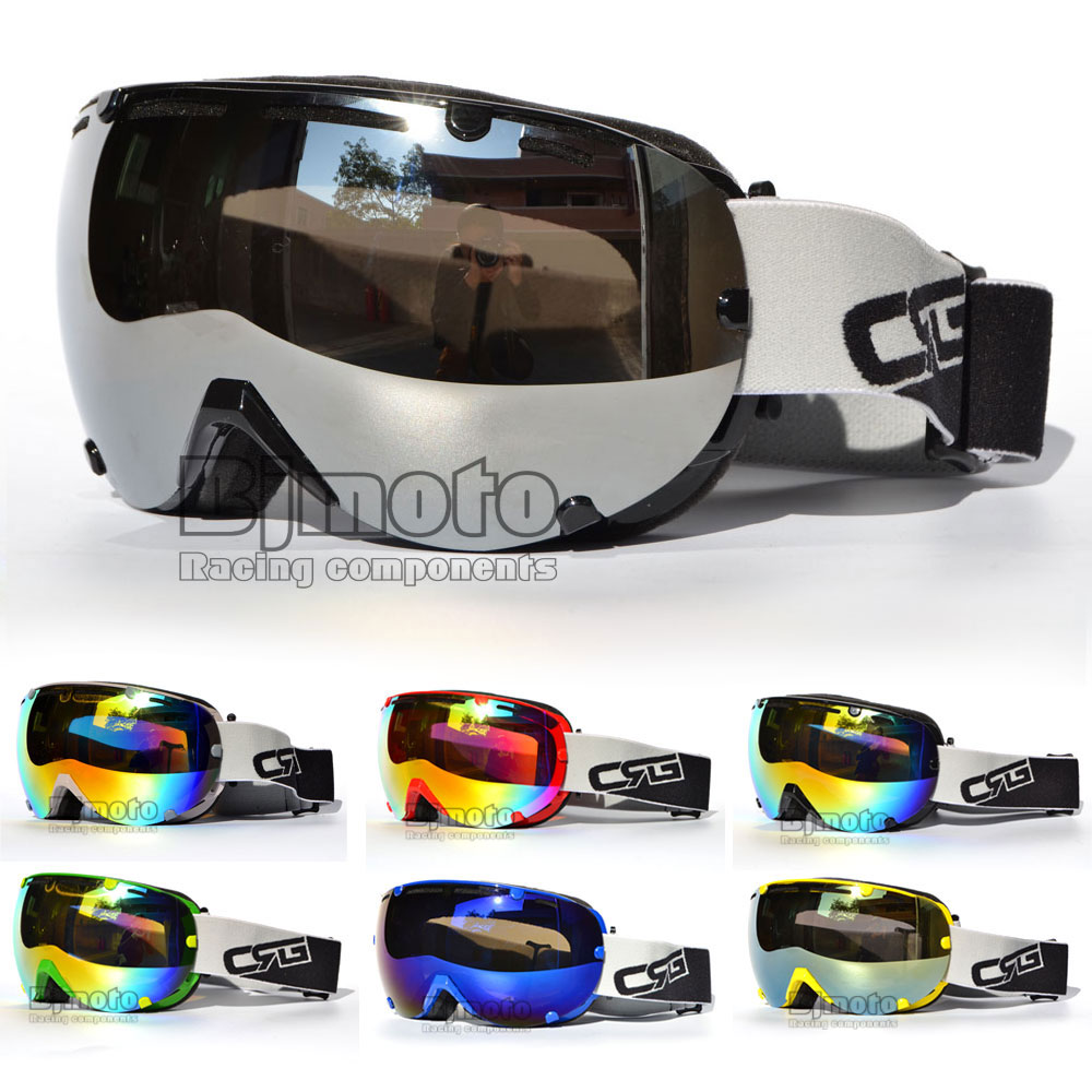 Reflekterande dubbelmotocrossglasögon Glasögon Anti-dimma mask Skidhjälm Glasögon Sport gafas MX Off Road för Motorcycle Dirt Bike