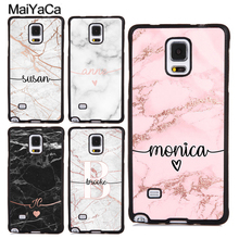MaiYaCa PERSONALISED ROSE GOLD MARBLE NAME INITIALS TPU Case For Samsung Galaxy S5 S6 S7 edge S8 S9 S10 Plus Lite Note 9 8 Cover
