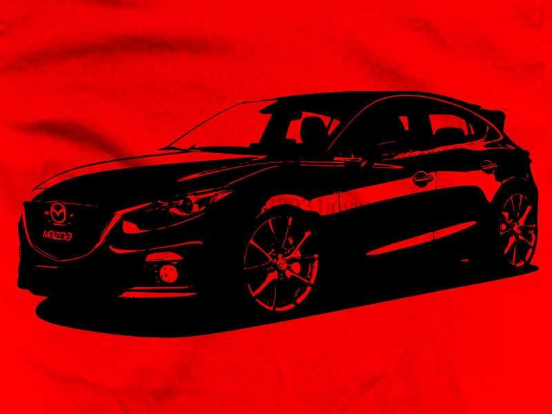 2019 New Summer Tee Shirt Japanese Car 3 BM Side Third Generation 2013 2014 Skyactiv Mazda3 MazdaSpeed Hatchback Cotton T-shirt