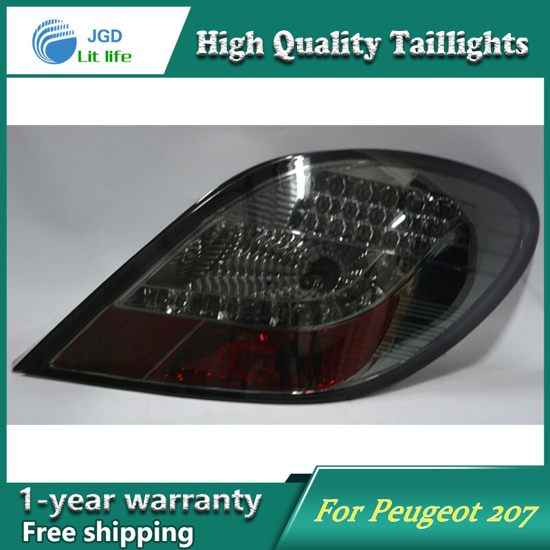 high quality car styling 35w led car tail light for Peugeot 207 2006-2015 tail lamp taillight DRL+Signal+Brake+Reverse lamp high quality car styling 35w led car tail light for toyota highlander 2015 tail lamp drl signal brake reverse lamp