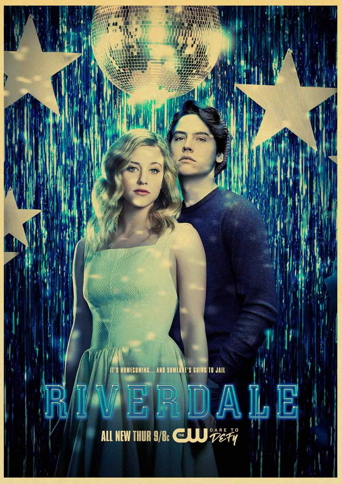 cool hot tv play riverdale  Poster Good Quality Painting vintage Poster Kraft Paper For Home Bar Wall  Bar Kids Room