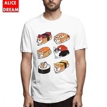 100% Cotton T shirt Casual New Arrival Men Sushi Corgi T Shirt Good T-Shirt Cotton Free Shipping Homme T-shirt new arrival 2017 valentino rossi vr46 t shirt for yamaha m1 46 doctor moto gp cotton men s t shirt