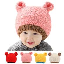 Kaguster New Korean winter Hat Kids Baby Boy Girl Infant hats bear earmuffs  Soft Warm baby girl Beanie
