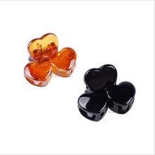 9377 hot sale Japan design heart hair claws  Brown Black Plastic Mini Hairpin Claws Hair Clip Clamp For Women 2.6*1.7 12pcs/lot