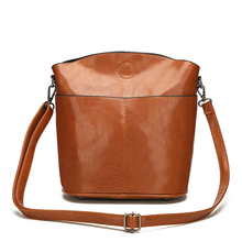 Casual Women Bag Vintage Bucket Bag Female PU Leather Shoulder Bags Brand Designer Ladies Crossbody Messenger Bags Red Handbags