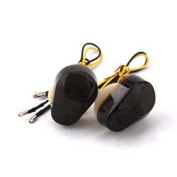 Принадлежности для шашлыков @ fuka Универсальный 2 шт. мотоцикл свет крепление дым объектив флеш мигалка Amber световой индикатор Flasher подходит