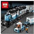 LEPIN 21006 1234 Unids Serie Técnica Maersk Tren Kits de Edificio Modelo Bloques Ladrillos Niños Juguetes de Regalo 10219