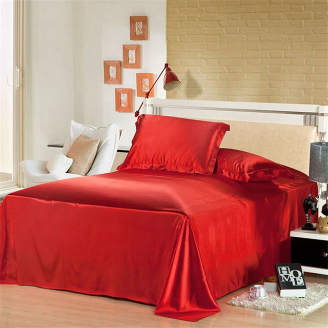 Household Bed Cover Pure Color Bed Flat Soft Skin Friendly Bed Sheet Double Bed Bedspread High Grade Home Decorations