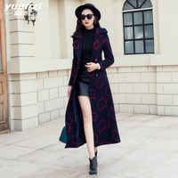 New Cashmere Coat Jacket Women Winter Wool Coats Slim Long Windbreaker Turndown Collar Double Breasted Oversized