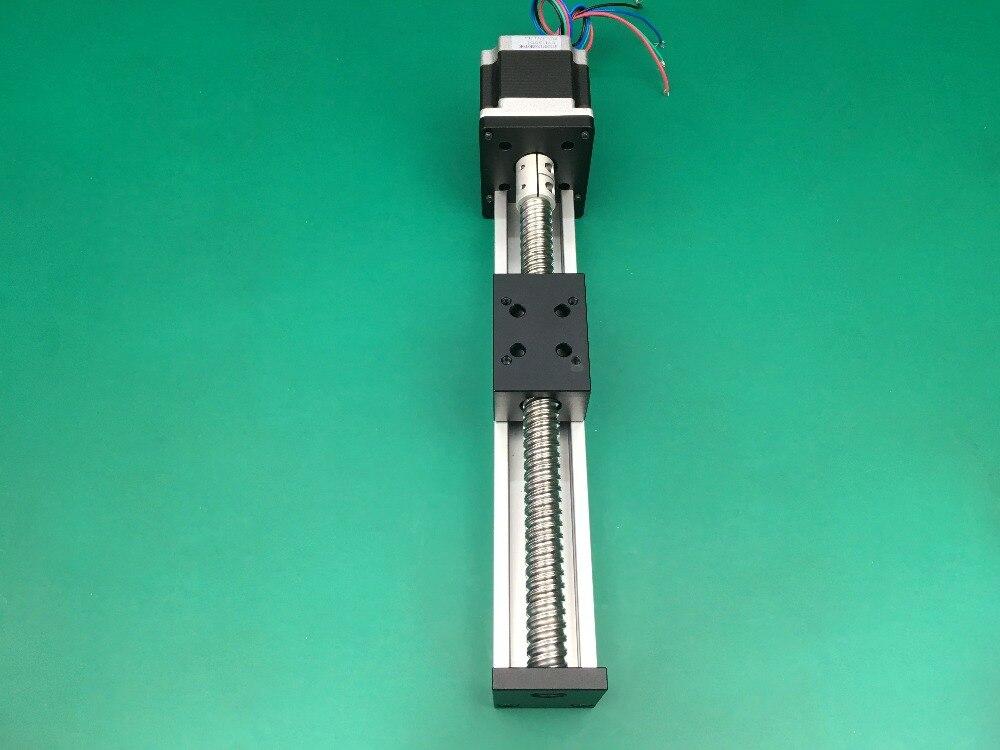 Haute précision course efficace 500mm vis à billes 1204 1605 1610 vis à billes Table coulissante + 1 pc nema 23 moteur pas à pas linéaire - 3