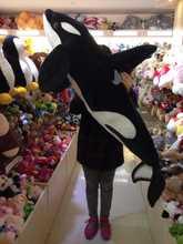 Моделирование Морских животных большой касатка о 130 см плюшевые игрушки бросить подушку Фотографии реквизит, подарок на день рождения b4926