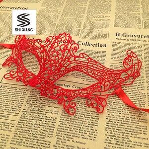 Image 3 - 1 шт., женские Кружевные маски для Хэллоуина, черные, красные, белые маскарадные костюмы для вечеринок, украшения на день рождения