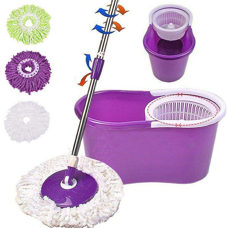 1 Pcs 360 Magic Rotating Automatic Microfiber Mop Head Replacement Rotate Floor Mop Accessories Household Cleaning Tool