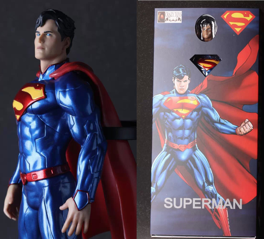 NEW hot 28cm Justice league superman action figure toys Christmas gift new hot 28cm justice league supergirl superman enhanced version action figure toys collection christmas toy doll with box