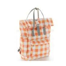 New simple lattice Mummy bag multi-function portable diaper shoulder baby care storage bin maternity backpack