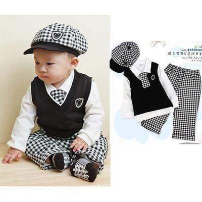 Menino Do Bebê Completa 5 pcs Paletó Definir Batizado Outfit filhos Do Casamento 0-2A