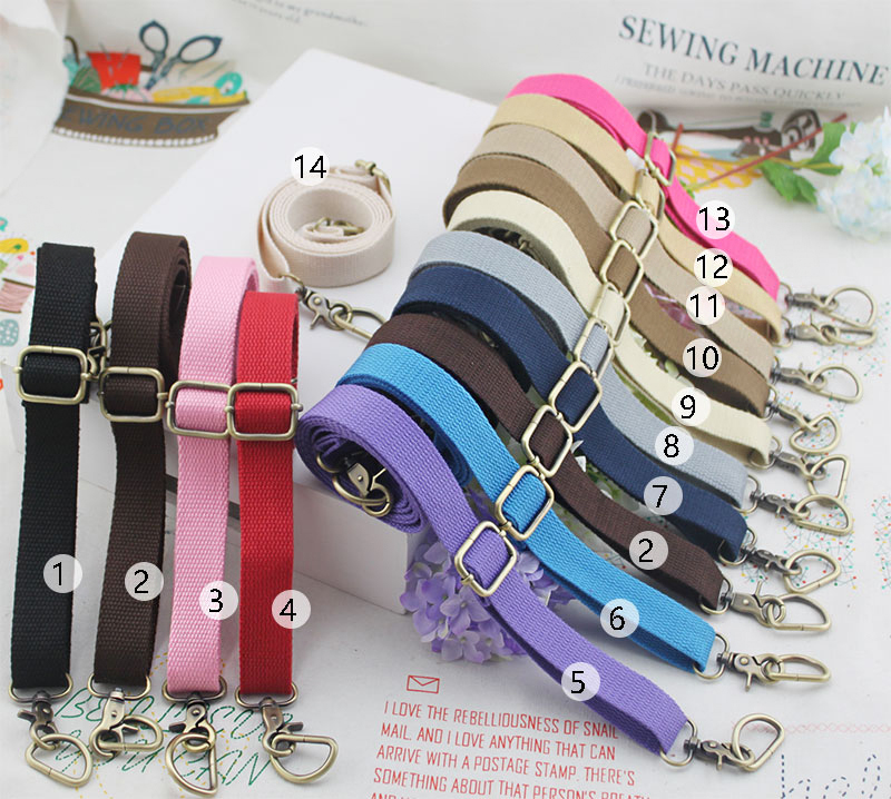 2.5cm Wide Bag Straps Canvas Weave Cotton Webbing Tape Shoulder Bag Belt Sling Fabric Strap Replacement DIY Accessories KZM01