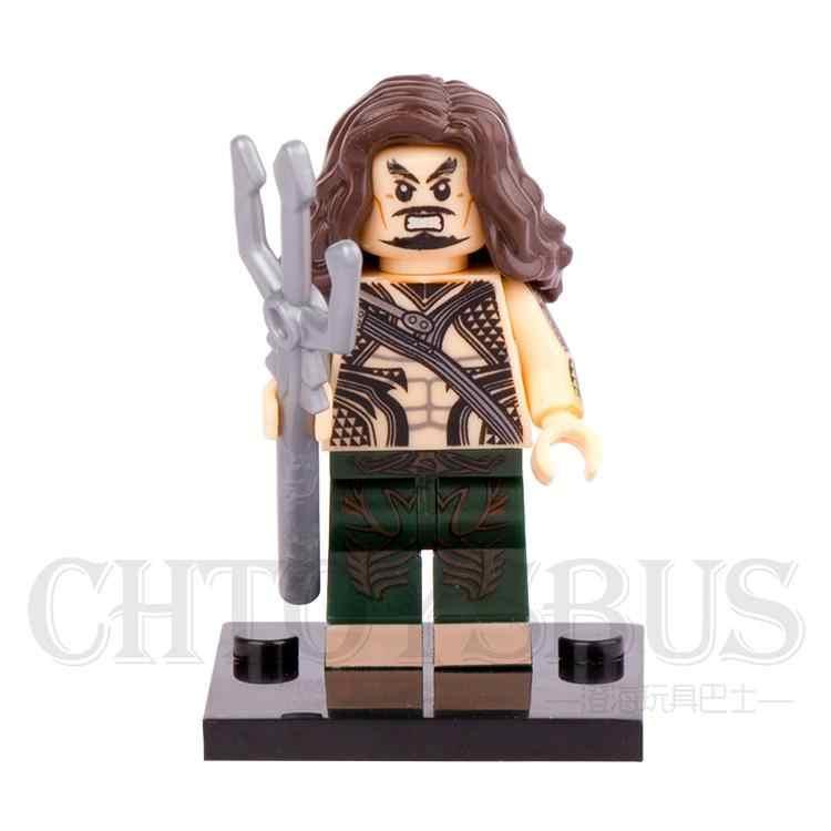 ขายเดียว Aquaman Seaking Batman Justice League DC Super Heroes Assemble รุ่น Minifig รุ่น DIY Building Blocks ของเล่นเด็กของขวัญ