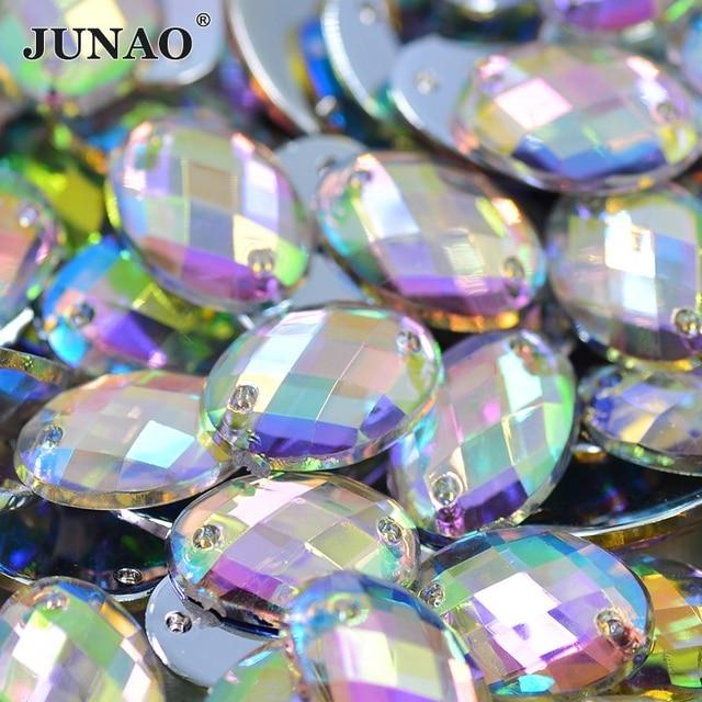 100pcs 18 25 mm Big Size Crystal AB Rhinestones Oval Shape Sew Acrylic  Stones Flatback 04079b3ae931
