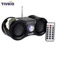 TIVDIO V 113 Camouflage Stereo Digital FM Radio USB TF Card With Speaker MP3 Music