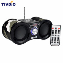 TIVDIO Camouflage Stereo FM Radio USB/TF Card With Speaker MP3 Music Player With Remote Control Receiver Radio F9203M