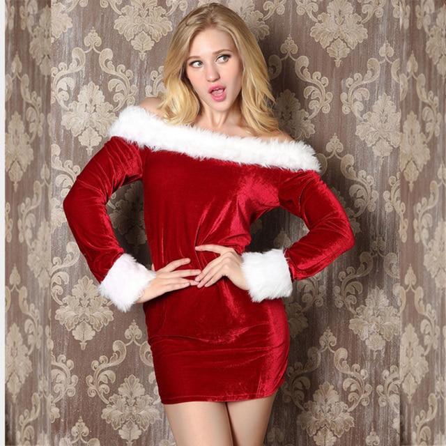 Good Quality Plus Size Big XXL Christmas Dress Sexy Long Sleeve ...