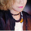 Cute Harajuku Girl Women Lolita Handmade Small O Round Leather Studded Choker Rivet Collar Sub Necklace