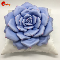 Home Decorative 3D Flower Pillow Cushion For Sofa Creative Couple Gift High End PP Cotton Stuffed