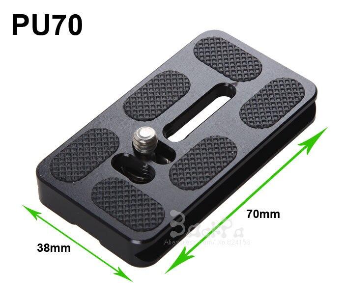 PU-70 Quick Release Plate 1/4 Screw Mount Camera Tripod Monopod Benro Akai Arca Swiss Ball Head Ballhead Accessories