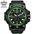 Supre Green SMAEL S-SHOCK Watch With Clear Digital Wristwatches LED Display Multiple Time Sports Outdoor Watches 1545