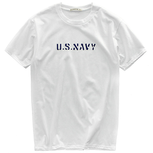 2018 Summer Cotton U.S. Army Loose Tshirt Men Streetwear Oldsaints Simple  Printed High Quality Tops T Shirt Short Sleeve T-shirt 8ff931ea691