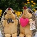 Мягкие Игрушки Kawaii Чучела Животных 18 см 2 шт./пара Ежик Плюшевые Игрушки Куклы Мини Плюшевые Игрушки Куклы для Детей День Рождения подарок