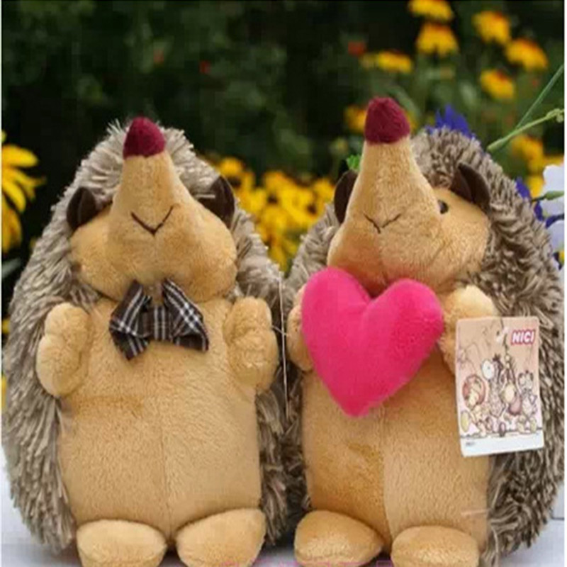 Soft Toys Kawaii Stuffed Animal 18cm 2pcs/pair Hedgehog Plush Toys Dolls Mini Plush Toys Dolls for Kids Birthday gift mini kawaii plush stuffed animal cartoon kids toys for girls children baby birthday christmas gift angela rabbit metoo doll