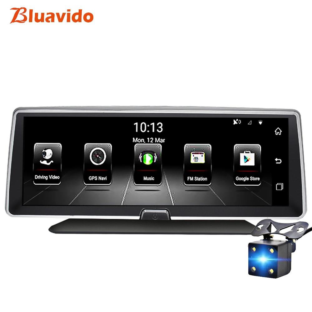 Bluavido 8IPS 4G Car DVR GPS Navigation Android ADAS FHD 1080P Dash camera Recorder Dual Lens Night vision Auto Video Registrar